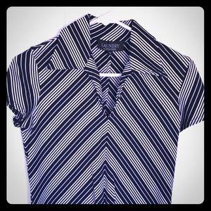 Laundry striped stretch dress